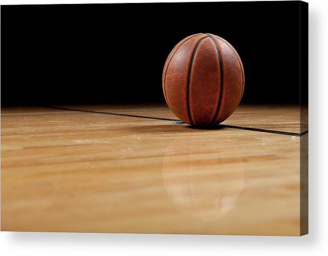 Ball Acrylic Print featuring the photograph Basketball by Garymilner