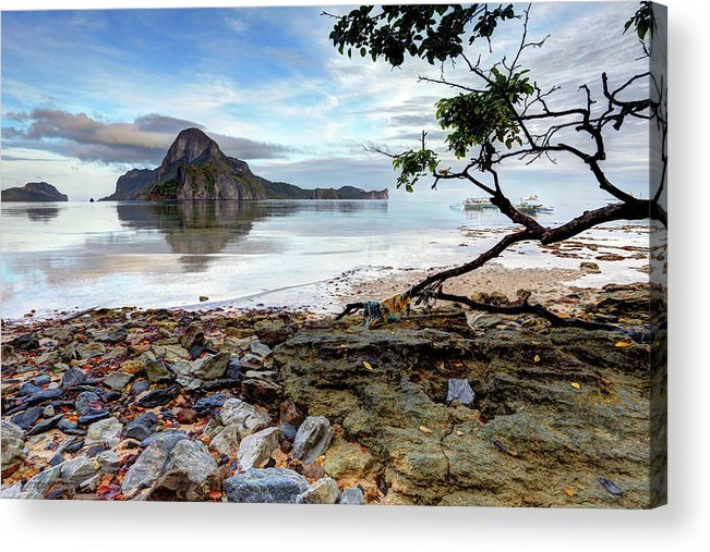 Water's Edge Acrylic Print featuring the photograph Beautiful El Nido Landscape by Vuk8691