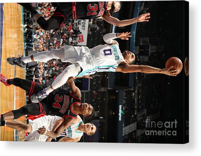 Chicago Bulls Acrylic Print featuring the photograph Chicago Bulls V Charlotte Hornets by Kent Smith