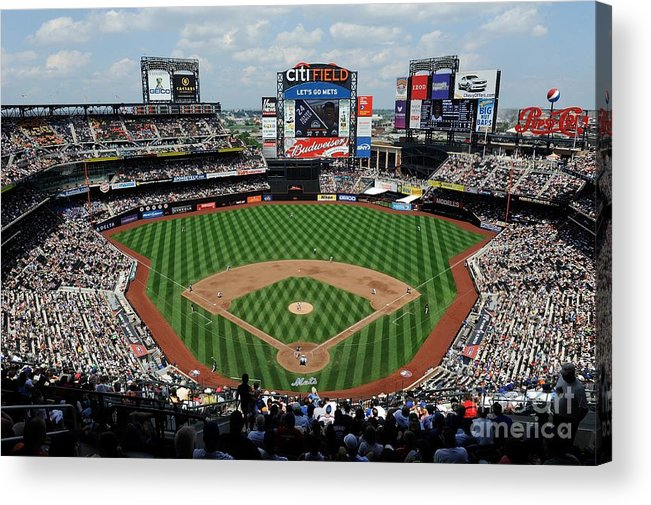 Citi Field Acrylic Print featuring the photograph Colorado Rockies V New York Mets by G Fiume