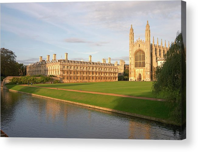 Shadow Acrylic Print featuring the photograph England, Cambridge, Cambridge by Andrew Holt
