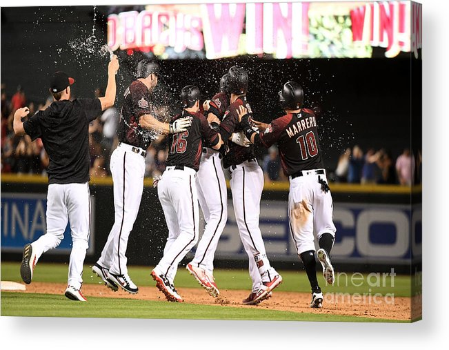 People Acrylic Print featuring the photograph Houston Astros V Arizona Diamondbacks by Jennifer Stewart