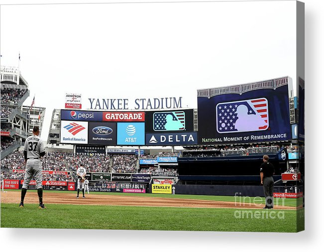 American League Baseball Acrylic Print featuring the photograph Houston Astros V New York Yankees by Elsa