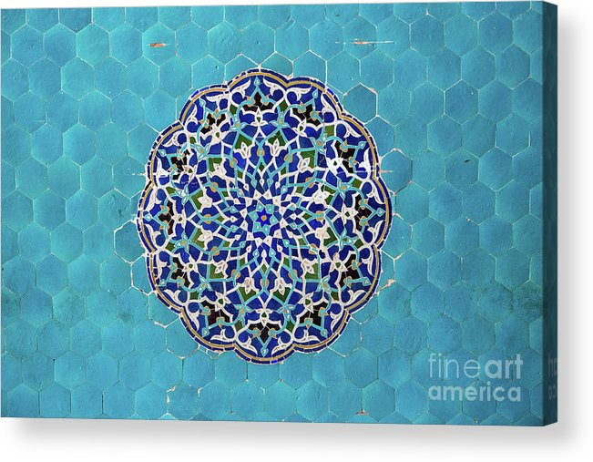 Yazd Acrylic Print featuring the photograph Jameh Mosque, Yazd, Iran by Sergio Formoso