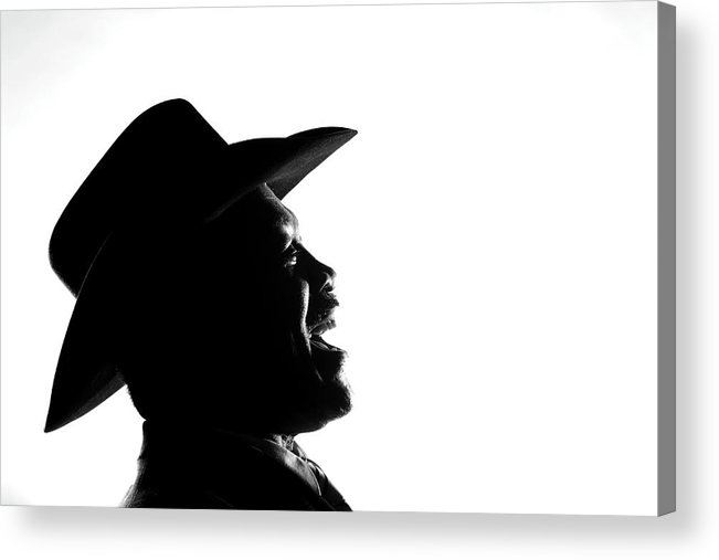 Joe Frazier Acrylic Print featuring the photograph Joe Frazier Portrait Session by Al Bello