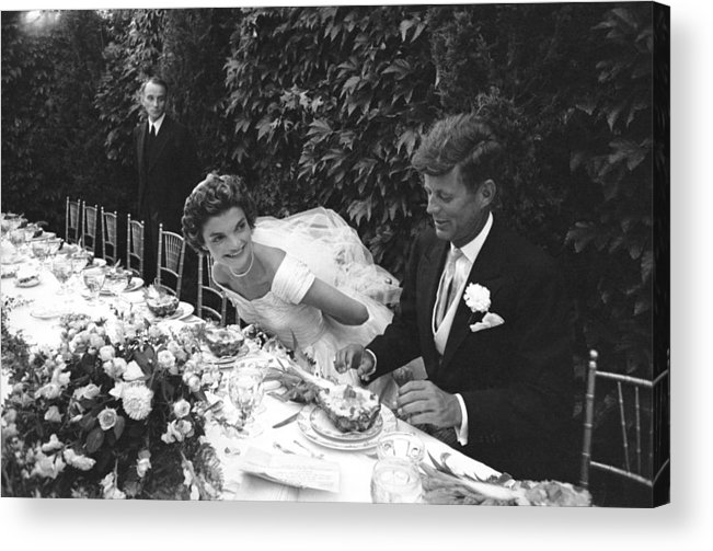 Timeincown Acrylic Print featuring the photograph John F. Kennedy And Jacqueline Kennedy by Lisa Larsen