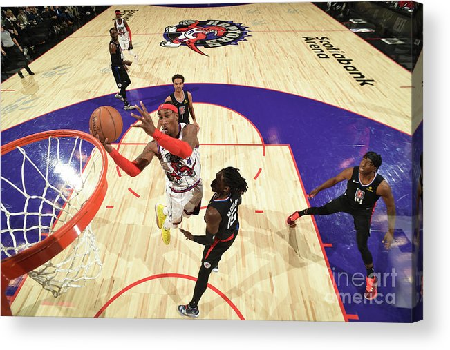 Nba Pro Basketball Acrylic Print featuring the photograph La Clippers V Toronto Raptors by Ron Turenne