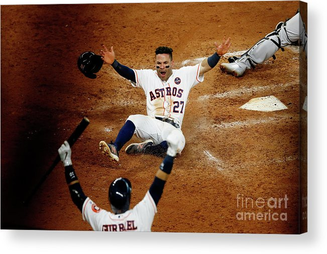 Game Two Acrylic Print featuring the photograph League Championship Series - New York by Bob Levey
