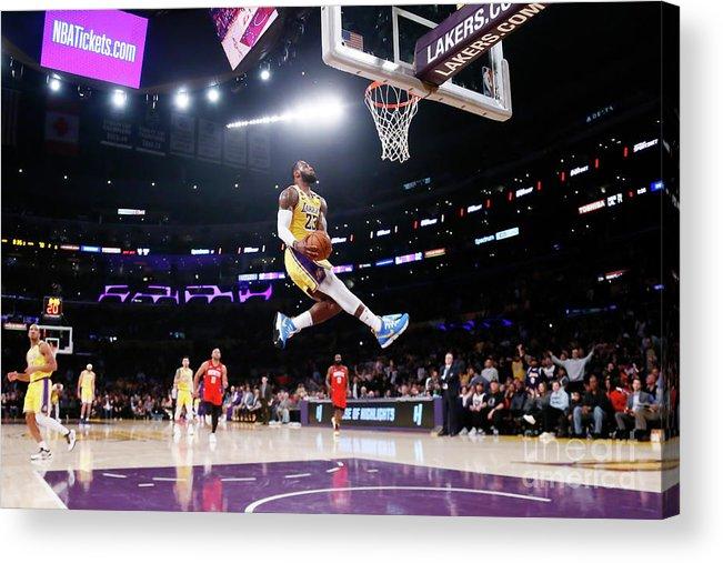 Nba Pro Basketball Acrylic Print featuring the photograph Lebron James by Chris Elise