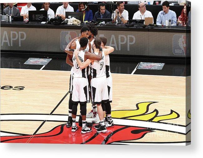 Nba Pro Basketball Acrylic Print featuring the photograph Los Angeles Lakers V Miami Heat by Joe Murphy
