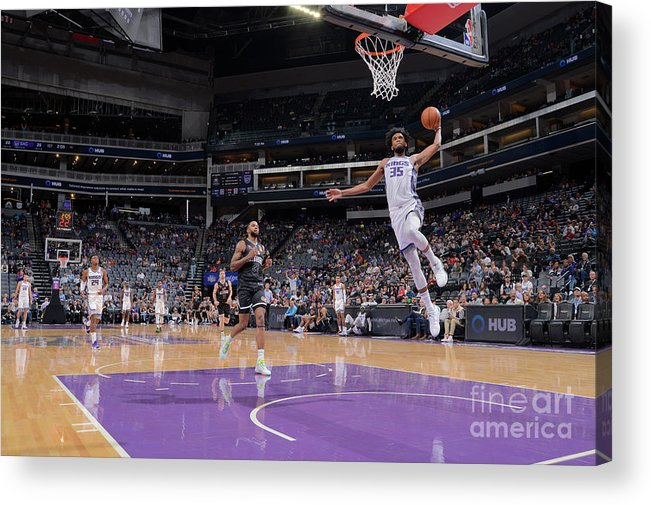Nba Pro Basketball Acrylic Print featuring the photograph Melbourne United V Sacramento Kings by Rocky Widner