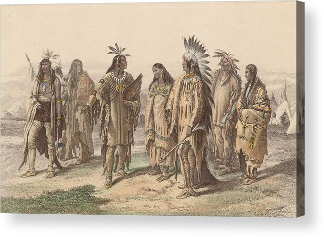 American Culture Acrylic Print featuring the digital art Native Americans by Hulton Archive