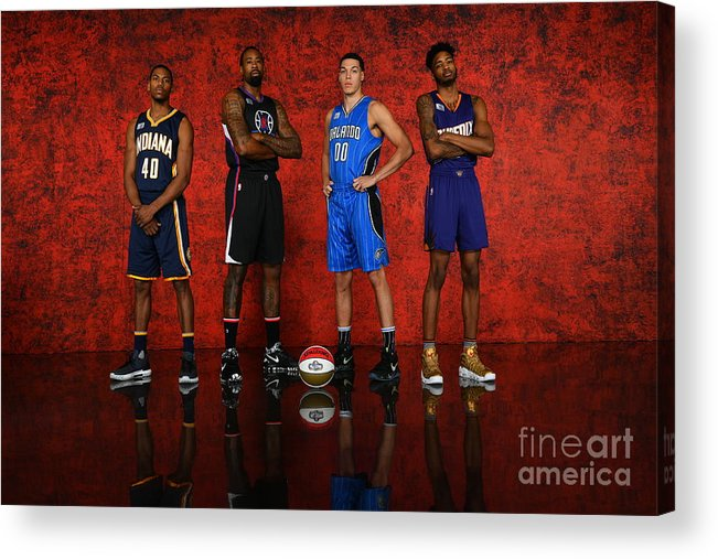 Smoothie King Center Acrylic Print featuring the photograph Nba All-star Portraits 2017 by Jesse D. Garrabrant