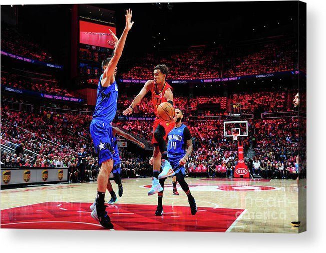 Atlanta Acrylic Print featuring the photograph Orlando Magic V Atlanta Hawks by Scott Cunningham