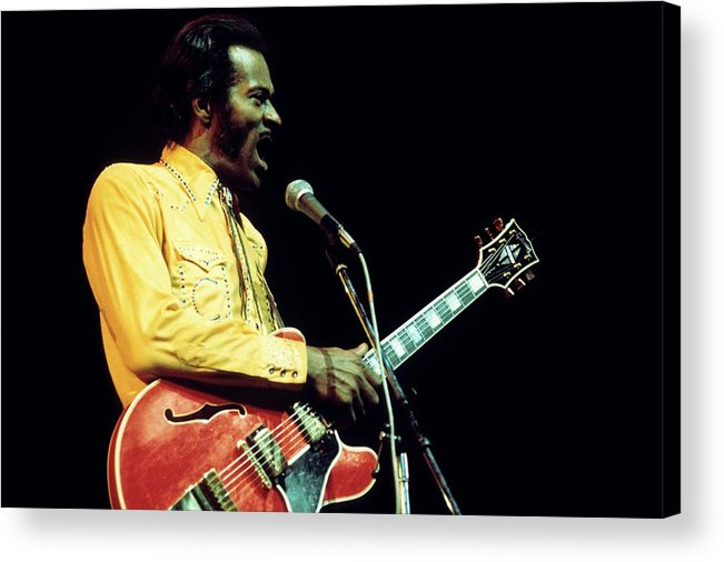 People Acrylic Print featuring the photograph Photo Of Chuck Berry by Andrew Putler