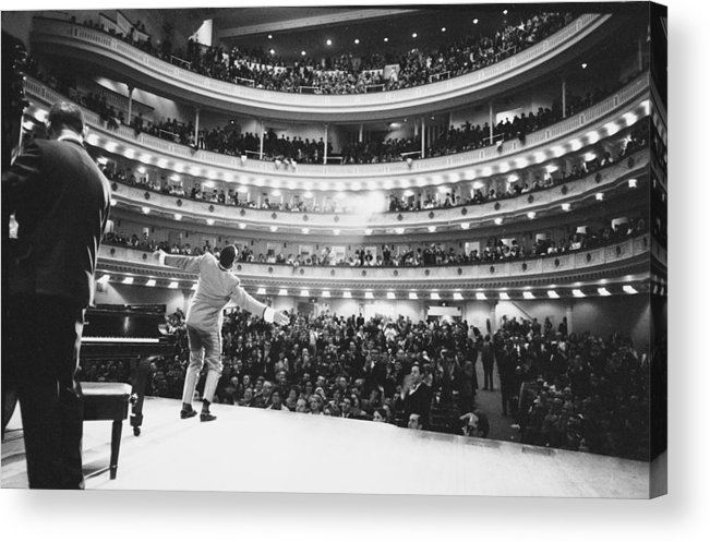 Singer Acrylic Print featuring the photograph Ray Charles At Carnegie Hall by Bill Ray
