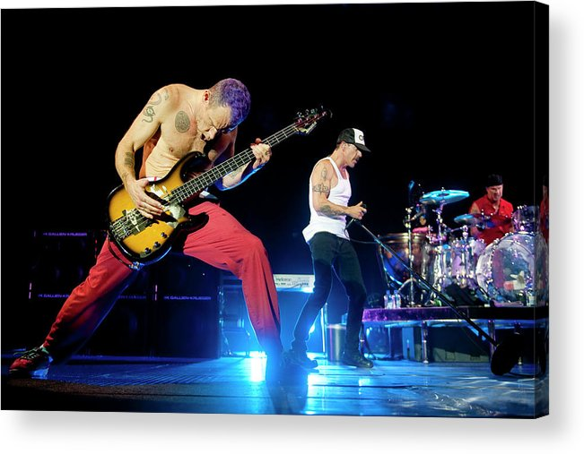 Event Acrylic Print featuring the photograph Red Hot Chili Peppers Perform At O2 by Neil Lupin