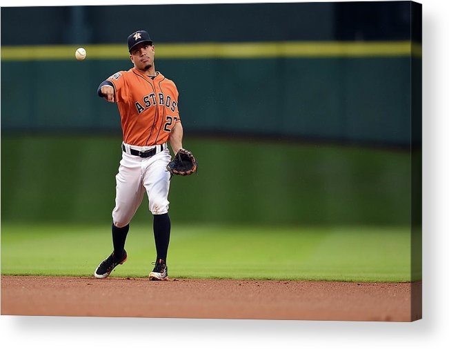 People Acrylic Print featuring the photograph Seattle Mariners V Houston Astros by Stacy Revere