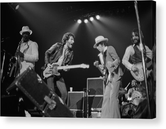 Music Acrylic Print featuring the photograph Springsteen Live In New Jersey by Fin Costello