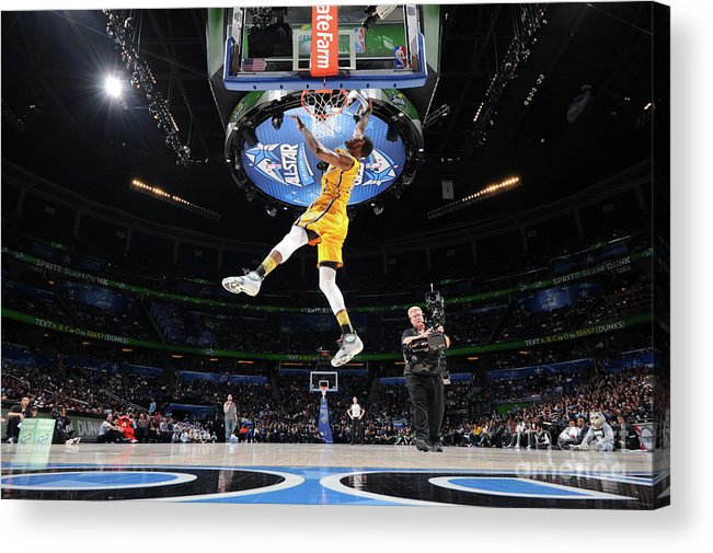 Nba Pro Basketball Acrylic Print featuring the photograph Sprite Slam Dunk Contest by Andrew D. Bernstein