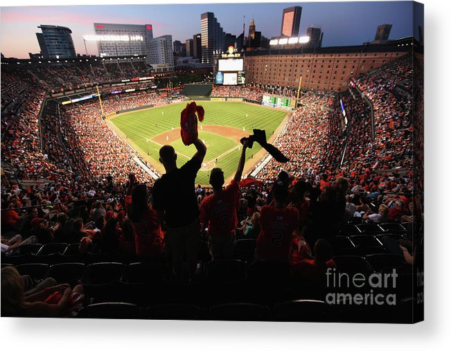American League Baseball Acrylic Print featuring the photograph St. Louis Cardinals V Baltimore Orioles by Rob Carr