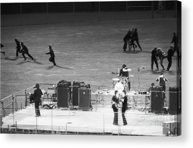 Candlestick Park Acrylic Print featuring the photograph The Beatles In Concert by Bettmann