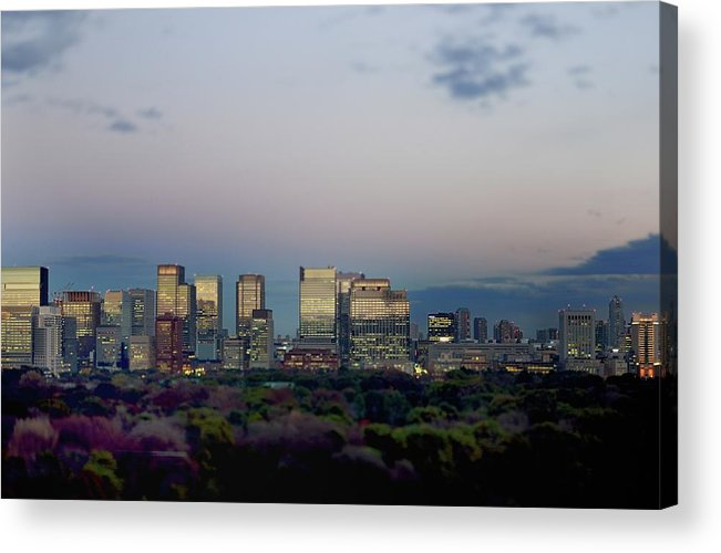 Financial District Acrylic Print featuring the photograph Tokyo Marunouchi by Vladimir Zakharov