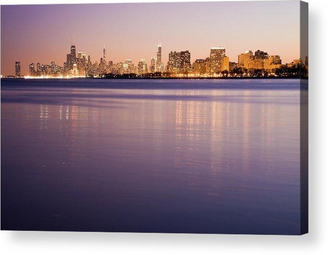 Lake Michigan Acrylic Print featuring the photograph Usa, Illinois, Chicago, City Skyline by Henryk Sadura