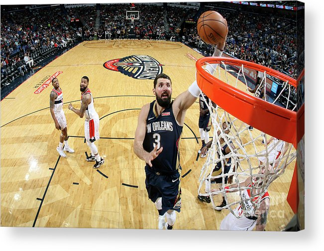 Smoothie King Center Acrylic Print featuring the photograph Washington Wizards V New Orleans by Layne Murdoch Jr.