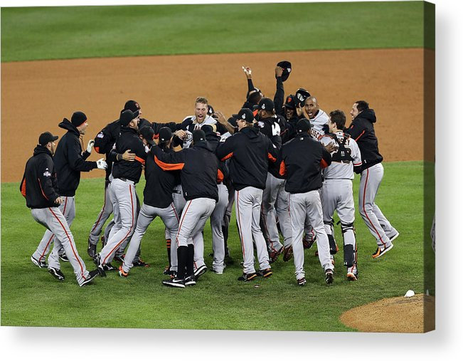 American League Baseball Acrylic Print featuring the photograph World Series - San Francisco Giants V by Christian Petersen