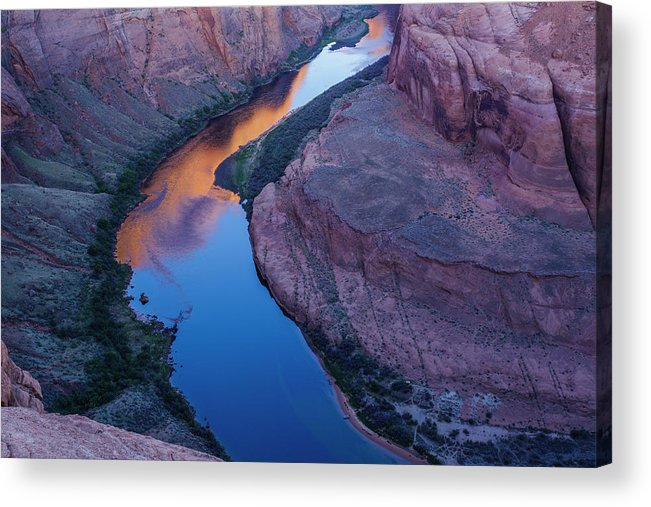 Tranquility Acrylic Print featuring the photograph Sand Stone Rock Formation In Sw Usa by Gavriel Jecan