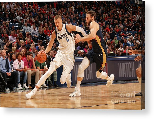 Smoothie King Center Acrylic Print featuring the photograph Dallas Mavericks V New Orleans Pelicans by Layne Murdoch Jr.