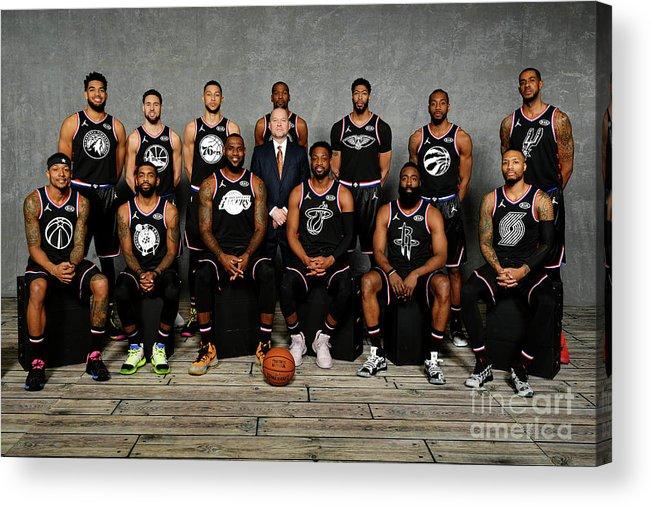Nba Pro Basketball Acrylic Print featuring the photograph 2019 Nba All Star Portraits by Jesse D. Garrabrant