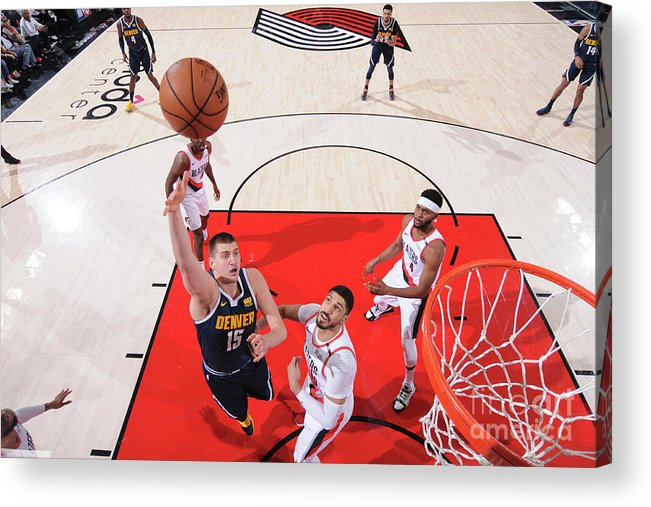 Playoffs Acrylic Print featuring the photograph Western Conference Semifinals - Denver by Sam Forencich