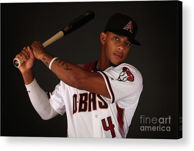 Media Day Acrylic Print featuring the photograph Arizona Diamondbacks Photo Day by Christian Petersen