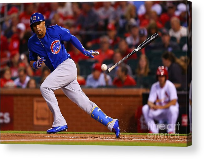 People Acrylic Print featuring the photograph Chicago Cubs V St Louis Cardinals by Dilip Vishwanat