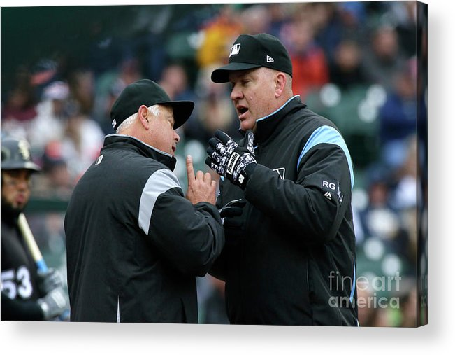 American League Baseball Acrylic Print featuring the photograph Chicago White Sox V Detroit Tigers by Duane Burleson