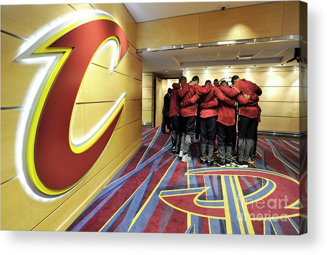 Nba Pro Basketball Acrylic Print featuring the photograph Houston Rockets V Cleveland Cavaliers by David Liam Kyle