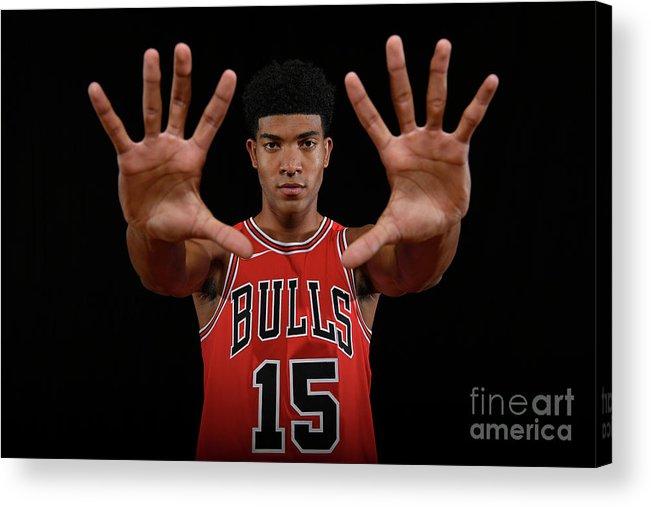 Nba Pro Basketball Acrylic Print featuring the photograph 2018 Nba Rookie Photo Shoot by Brian Babineau