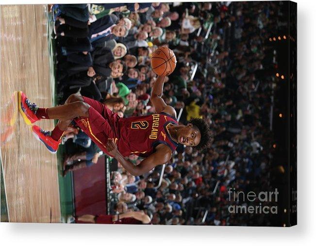 Nba Pro Basketball Acrylic Print featuring the photograph Cleveland Cavaliers V Milwaukee Bucks by Gary Dineen
