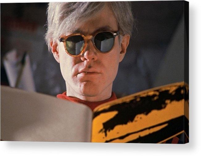 Andy Warhol Acrylic Print featuring the photograph Andy Warhol In New York, United States by Herve Gloaguen