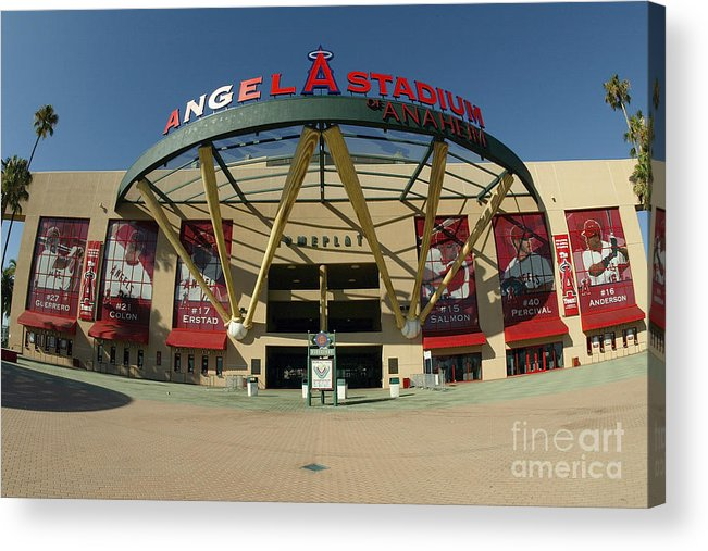 American League Baseball Acrylic Print featuring the photograph Angel Stadium Of Anaheim by Doug Benc