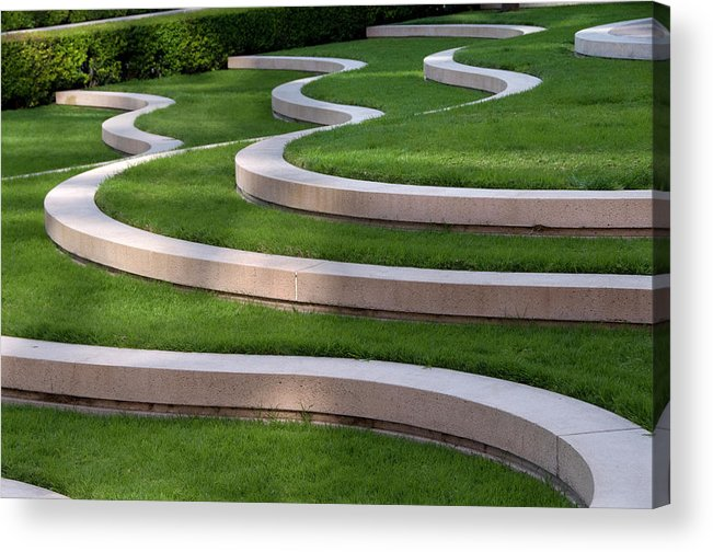 Grass Acrylic Print featuring the photograph Architectural Design by Mitch Diamond