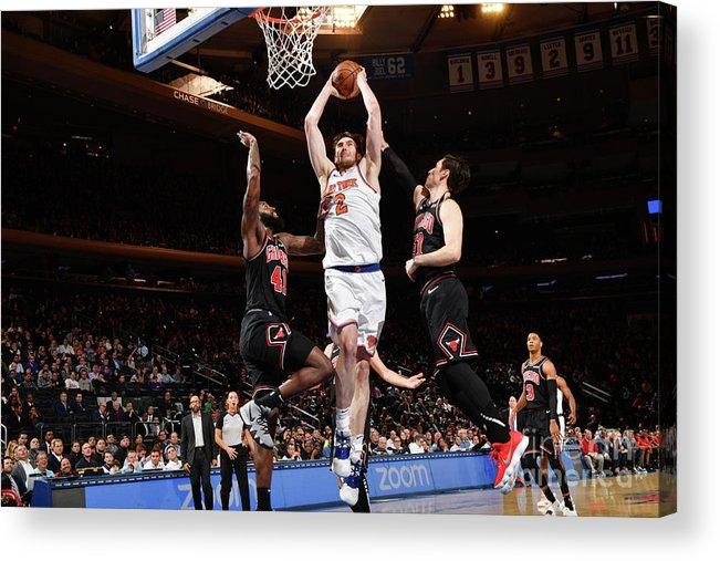 Nba Pro Basketball Acrylic Print featuring the photograph Chicago Bulls V New York Knicks by Jesse D. Garrabrant
