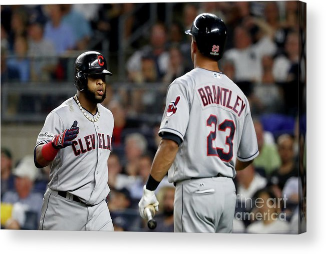 Three Quarter Length Acrylic Print featuring the photograph Divisional Round - Cleveland Indians V by Al Bello