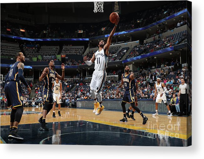 Nba Pro Basketball Acrylic Print featuring the photograph Indiana Pacers V Memphis Grizzlies by Joe Murphy