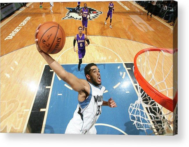 Nba Pro Basketball Acrylic Print featuring the photograph Los Angeles Lakers V Minnesota by David Sherman