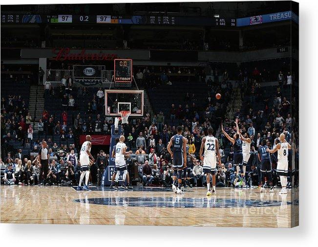 Nba Pro Basketball Acrylic Print featuring the photograph Memphis Grizzlies V Minnesota by David Sherman