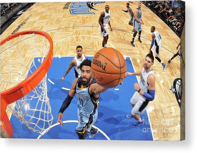 Nba Pro Basketball Acrylic Print featuring the photograph Memphis Grizzlies V Orlando Magic by Fernando Medina