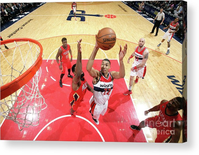 Nba Pro Basketball Acrylic Print featuring the photograph New Orleans Pelicans V Washington by Ned Dishman